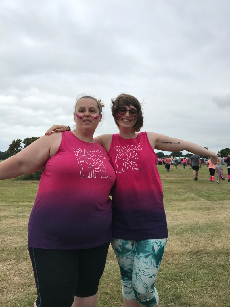 Just before running Race for Life