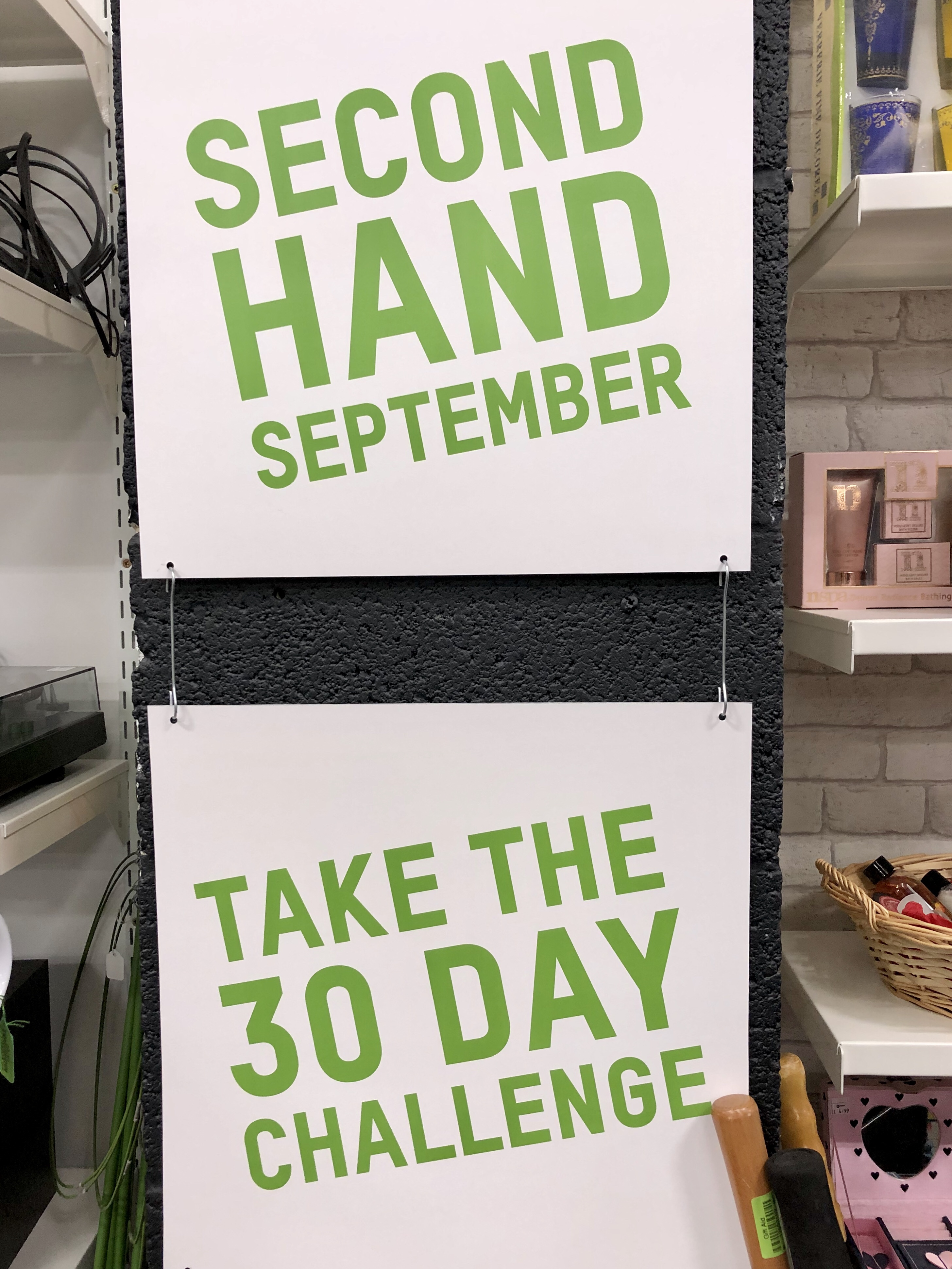 Sign reading Second Hans September  take the 30 day challenge